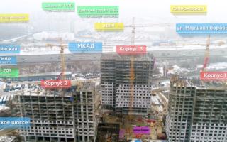 Ход строительства в жилом комплексе «Спутник»